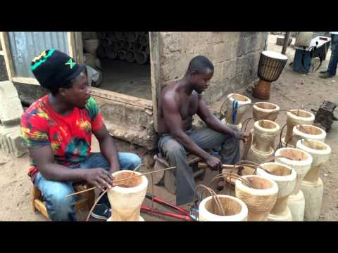 Drum Builders - Ghana, Africa - Cultural Artisans - Africa Heartwood Project