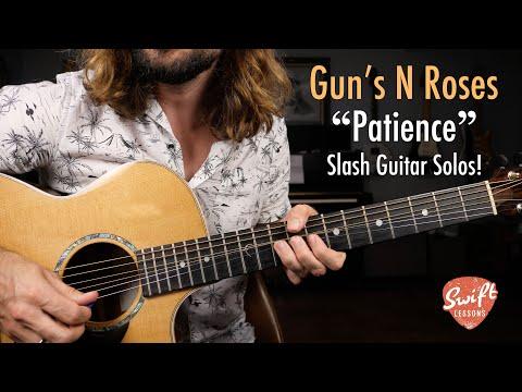 "Guns N' Roses ""Patience"" – Slash Guitar Solos Lesson!"