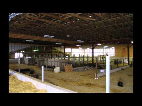 Wide mono slope beef barn a virtual tour doovi for Usa pole barns