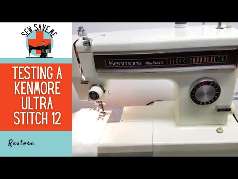 SOLD Kenmore UltraStitch 40 Vintage Free Arm Sewing Machine YouTube Cool What Is A Free Arm On A Sewing Machine