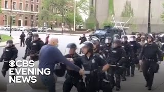 President trump claims that martin gugino, the 75-year-old protester hospitalized after being pushed by police in upstate new york, was a set up and suggeste...