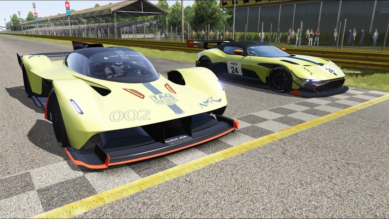 Aston Martin Valkyrie Amr Pro Vs Aston Martin Vulcan Amr Pro At Monza Full Course Youtube