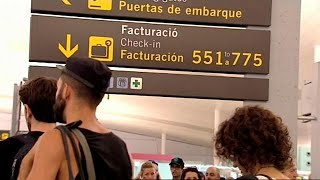 Барселонский аэропорт бастует