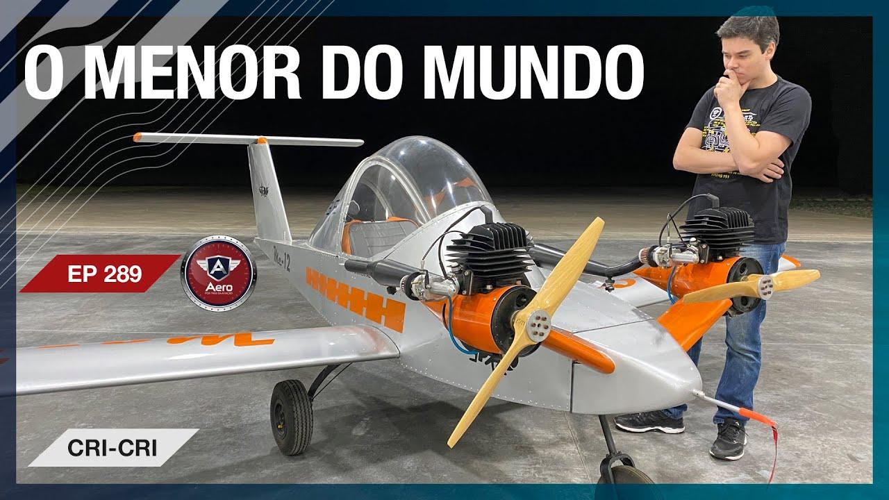 Avião com MOTOR DE MOTO - O CRI-CRI é o MENOR BIMOTOR DO MUNDO