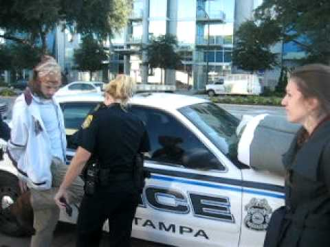 occupy tampa 39 s kevin flynn alicia dion handcuffed by police wmnf news youtube. Black Bedroom Furniture Sets. Home Design Ideas