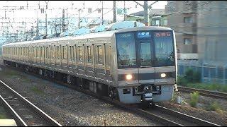 2018.05.27 JR西日本 207系 T24編成+S63編成 7両編成 109B 普通 西明石 行き 到着 千里丘駅