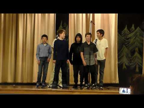 Oliver singing in Tolt Middle School Choir first song.
