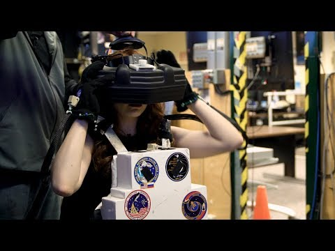Walking through space in NASA's Virtual Reality Lab