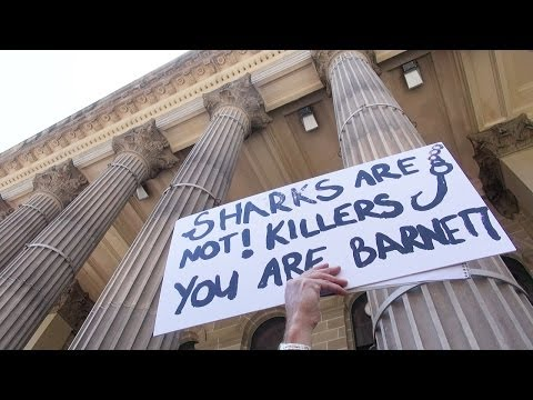 Shark cull protest in Melbourne - Philip Wollen speech