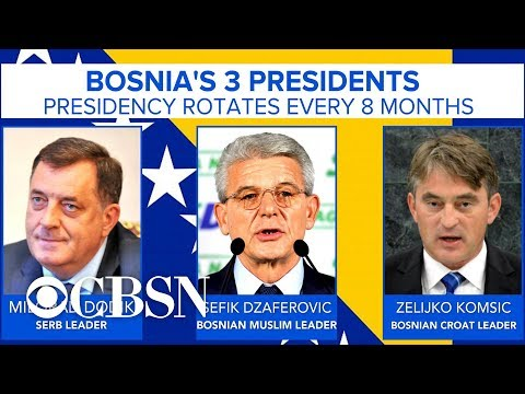 Ethnic divisions permeate Bosnia as country inaugurates its 3 presidents