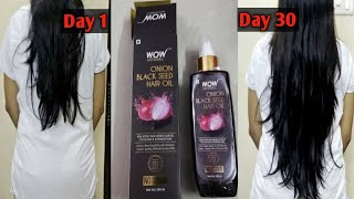 New Launched WOW haircare Onion Black Seed Hair Oil for all hair problems।Review after use