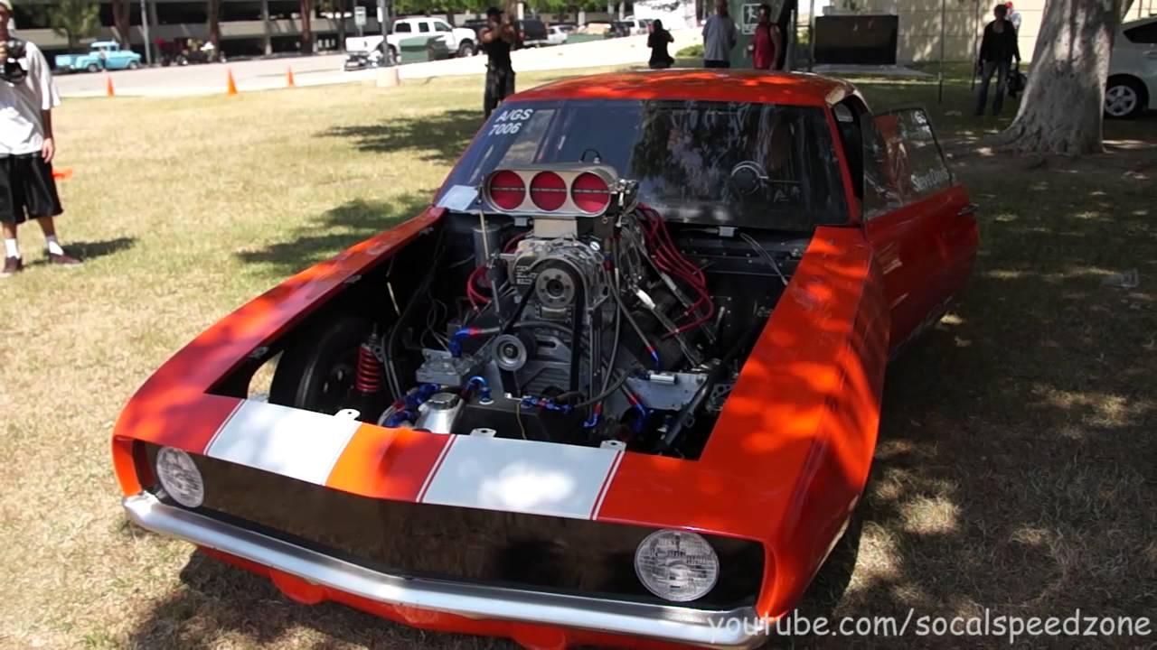 LOUD!! 1969 Camaro Drag Car Revving And Walkaround