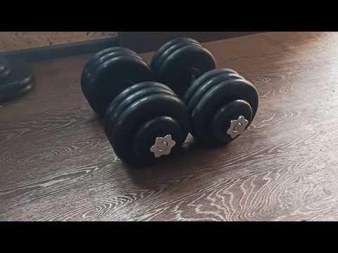 Спорт164.Обзор разборных обрезиненных гантелей по 31,5 кг