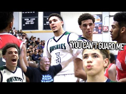 Lonzo Ball: 'YOU CAN'T GUARD ME!' LiAngelo Talking TRASH & LaMelo CRAZY JELLY at 14!