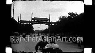 1920's film of China: street scenes in Beijing