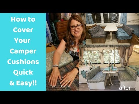 Easy RV Camper Cushion Covers
