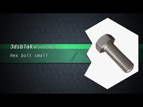 Hex bolt small 3D Model on TurboSquid