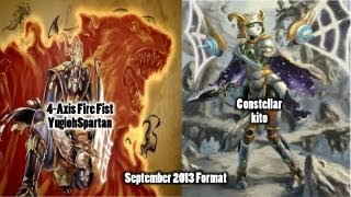 [YugiohSpartan] 4-Axis Fire Fist vs Constellar [kito] September 2013 Format