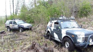 NIVA-3D в стоке Jeep Grand Cherokee WJ 4,7 V8 помогает   OFF ROAD