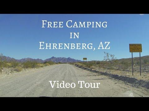 Camping Along Ehrenberg Cibola Road in Ehrenberg, AZ - Video Tour
