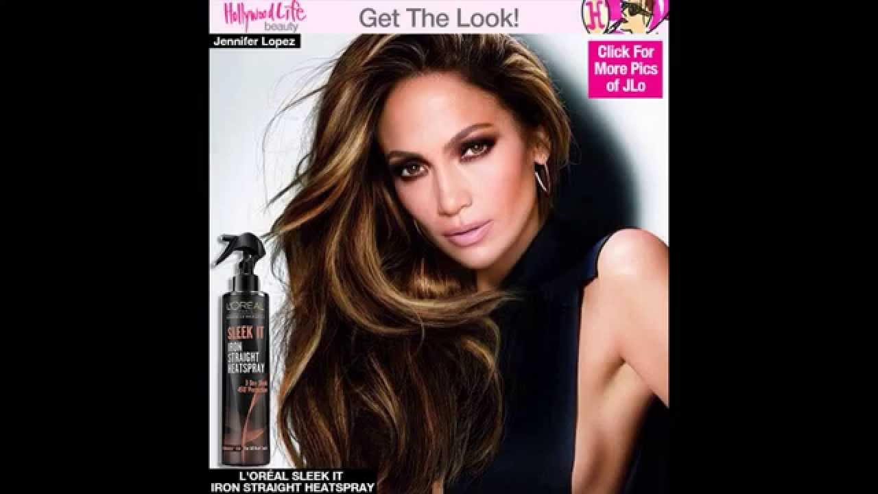 Jennifer Lopezs Luscious Blowout Smokey Eye For Loreal Get Her Look Youtube