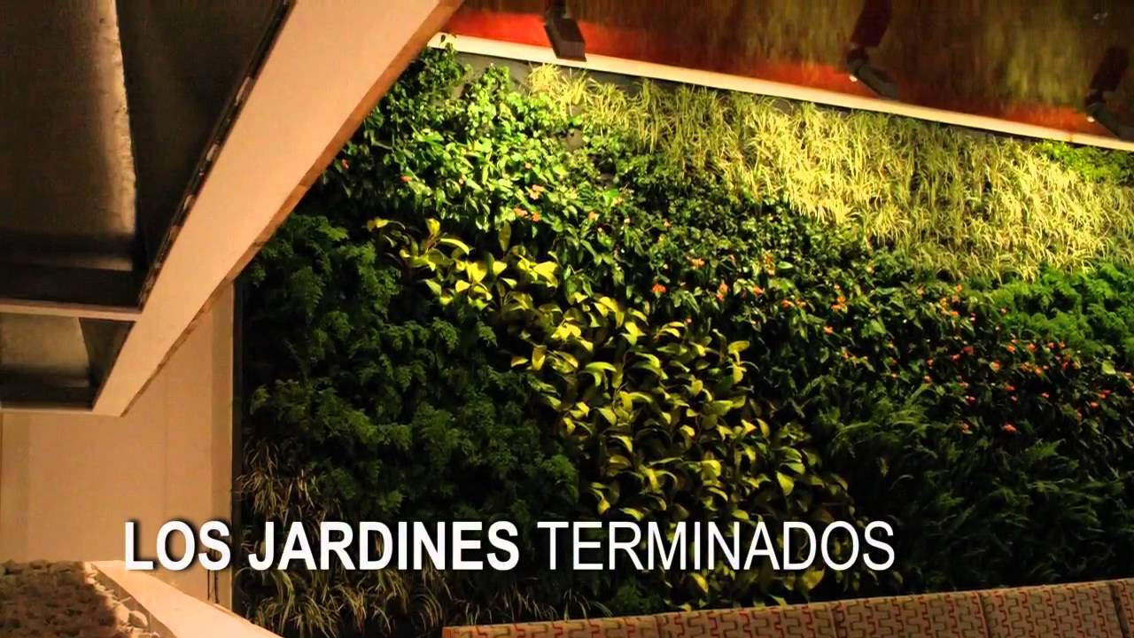 jardines verticales verde vertical youtube. Black Bedroom Furniture Sets. Home Design Ideas