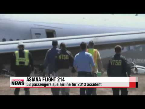 Asiana passengers sue airline over San Francisco accident   샌프란시스코 사고 승객 아시아나 집단
