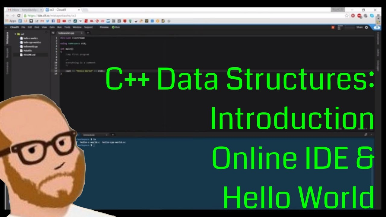 Data Structures in C++ - Intro to C++ - Day 1 - Online IDE and Hello World