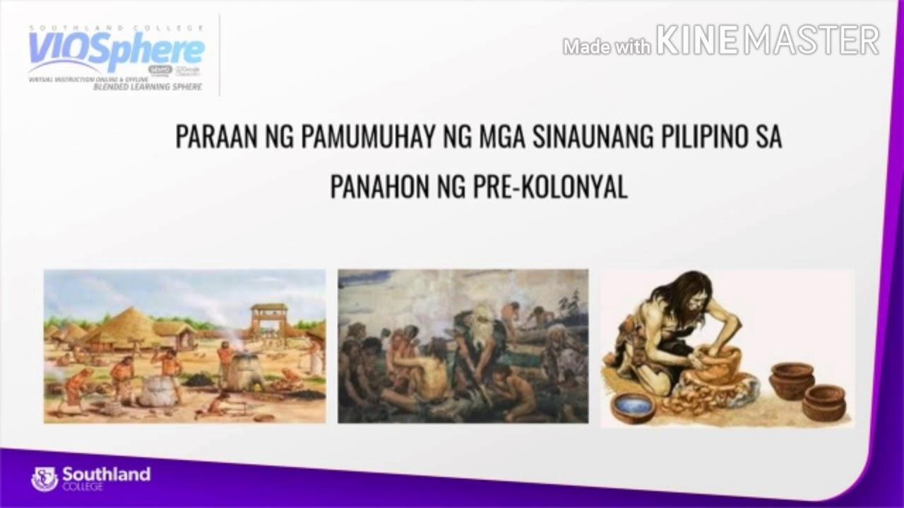 Download Paraan ng Pamumuhay ng mga Sinaunang Pilipino sa Panahon ng Pre-kolonyal