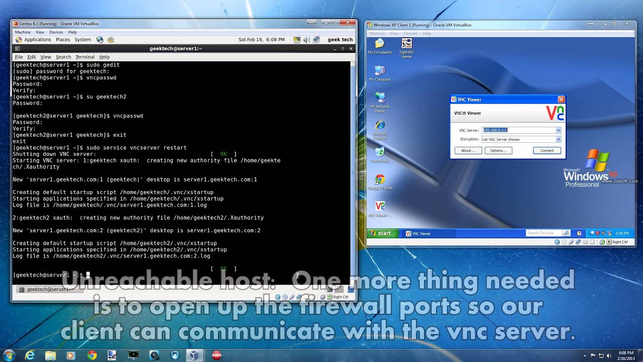 Linux Centos 6 - Setup Server Remote Desktop with VNC ...