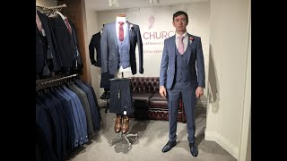 Remus Uomo Blue Groom Suit wit…