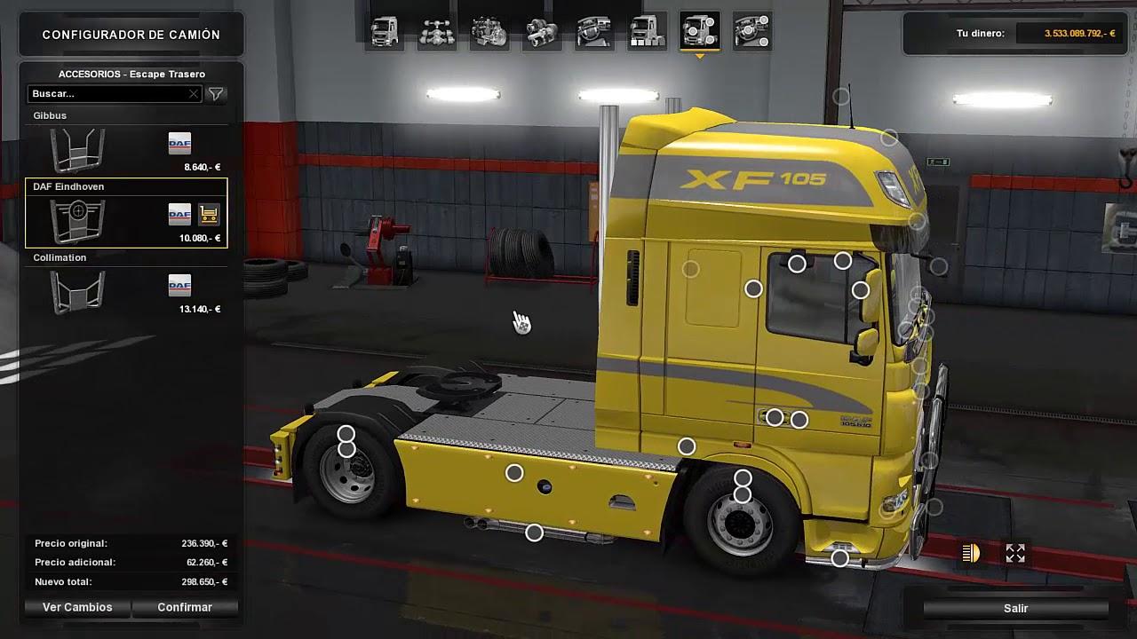 new dlc daf tuning update for euro truck simulator 2. Black Bedroom Furniture Sets. Home Design Ideas
