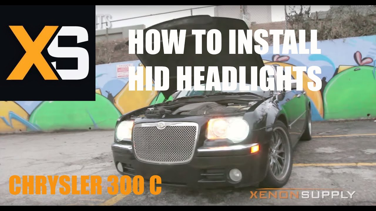 small resolution of chrysler 300 c how to install hid xenon w wiring harness 2005 2010