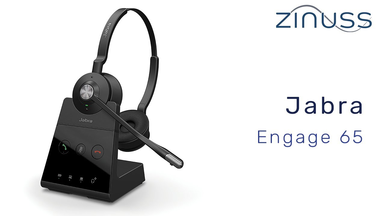 Jabra Engage 65 Professionellt Tradlost Dect Headset Youtube