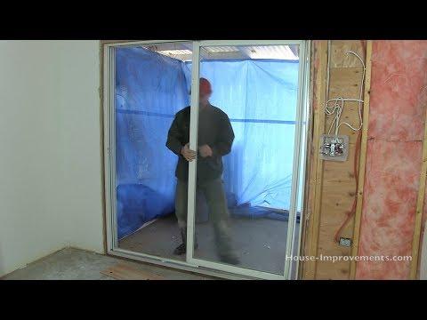 How To Remove Sliding Patio Doors - YouTube Aluminium Gl Sliding Doors Exterior Install Manual on