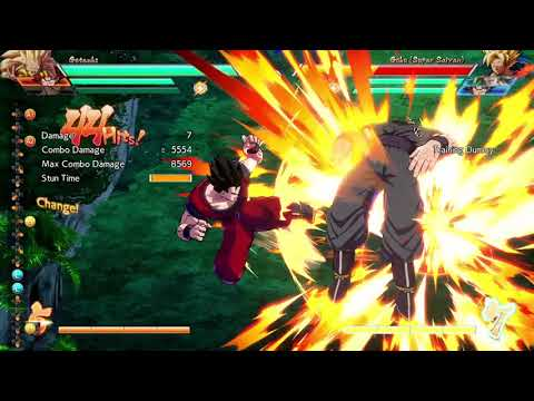 DRAGON BALL FighterZ - 8.5k Adult Gohan + Gotenks DHC into Goku Spirit Bomb