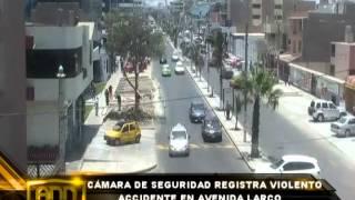 CÁMARAS DE VÍCTOR LARCO CAPTAN ACCIDENTE