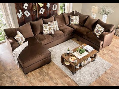 u shaped sectional sofa with chaise 1 youtube. Black Bedroom Furniture Sets. Home Design Ideas