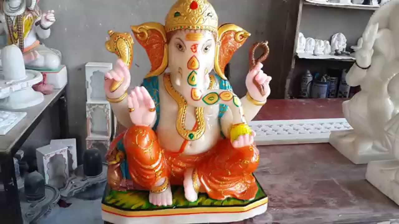 Buy Ganesh Marble Moorti White Marble Ganesh Statue