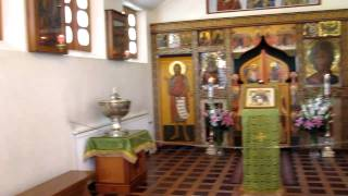 Room in church at New Valamo. Комната в церкви  на Новом Валааме.