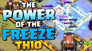 POWER of the FREEZE Spell in Clash of Clans | TH10 Attack Strategy 2018