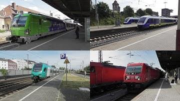 Bahnverkehr in Osnabrück Hbf mit Flixtrain, Intercity, Güterverkehr und Regionalverkehr