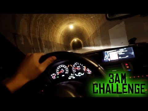 i drove down the tunnel at 3 am... (so scary!)