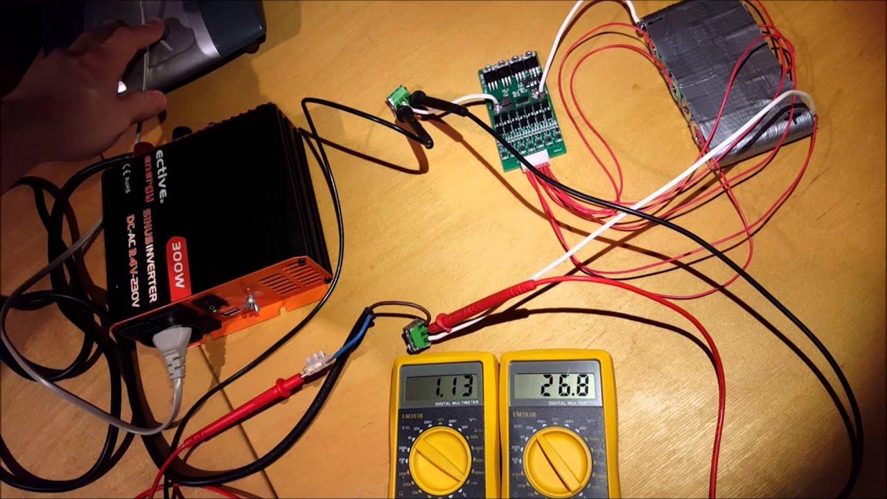 Energieinhalt 18650 Last 40 Watt Ventilator