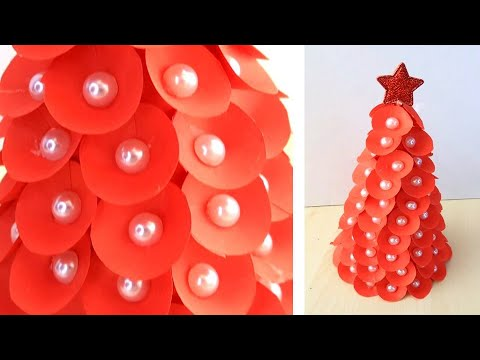 Paper Christmas Tree | How to Make a 3D Paper Xmas Tree DIY Tutorial | Christmas Decor. 0712