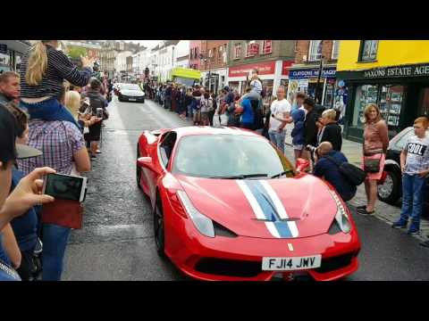 Ferrari convoy through Colchester Essex.