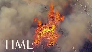 Destructive Los Angeles Blaze Began Beneath Power Lines, Fire Department Says   TIME