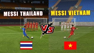 Quang Hai vs Chanathip - MESSI VIETNAM vs MESSI THAILAND | Football Challenger Free Kick | PES 19