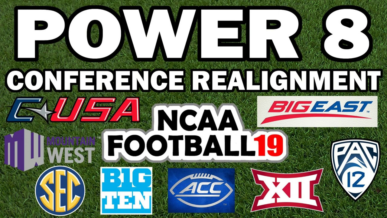 Power 8 Conference Realignment (NCAA Football) Winners Meet in 8 Team  Playoff