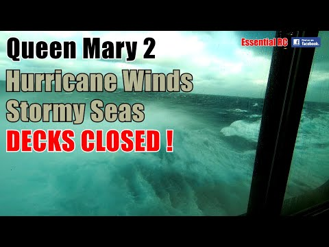 😱-raw-footage-😱-cunard's-queen-mary-2-(qm2):-hurricane-winds-force-12-stormy-seas-|-decks-closed-!
